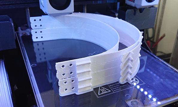 Faceshilds auf dem 3D-Drucker